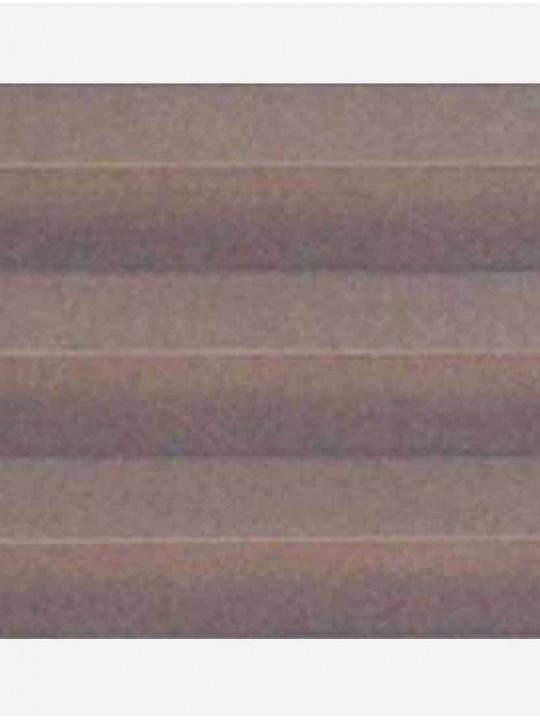 Штора плиссе тканевая Ноктюрн блэкаут коричневый