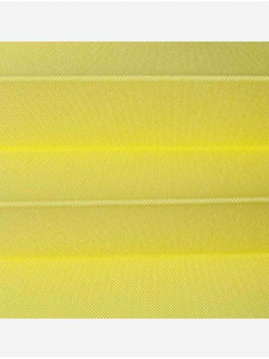 Штора плиссе тканевая Ноктюрн блэкаут лимон