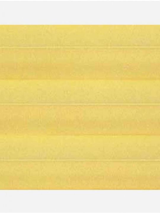 Штора плиссе тканевая Ноктюрн блэкаут желтый