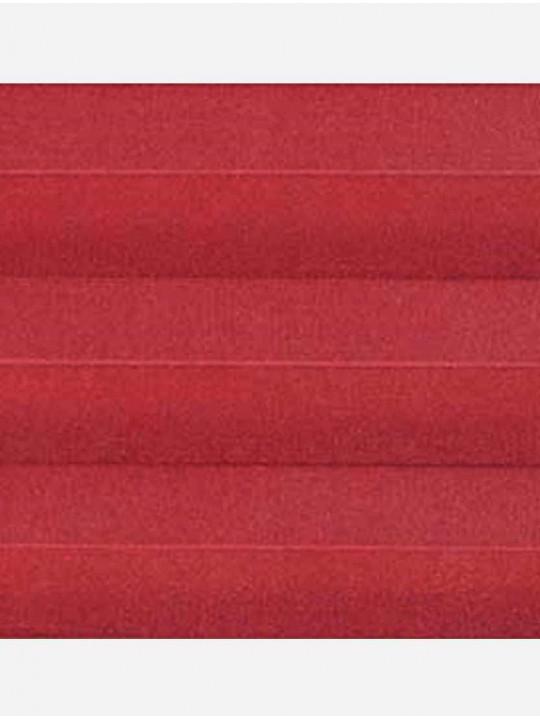 Штора плиссе тканевая Ноктюрн блэкаут красный