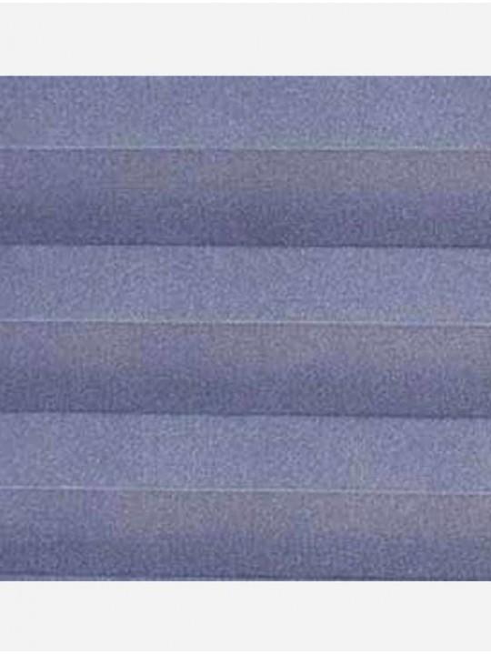 Штора плиссе тканевая Ноктюрн блэкаут синий
