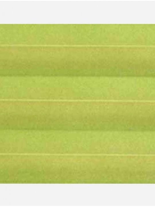 Штора плиссе тканевая Ноктюрн блэкаут зеленый