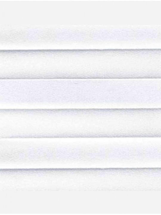Штора плиссе тканевая Опал белый
