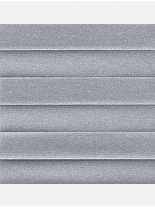 Штора плиссе тканевая Опал серый