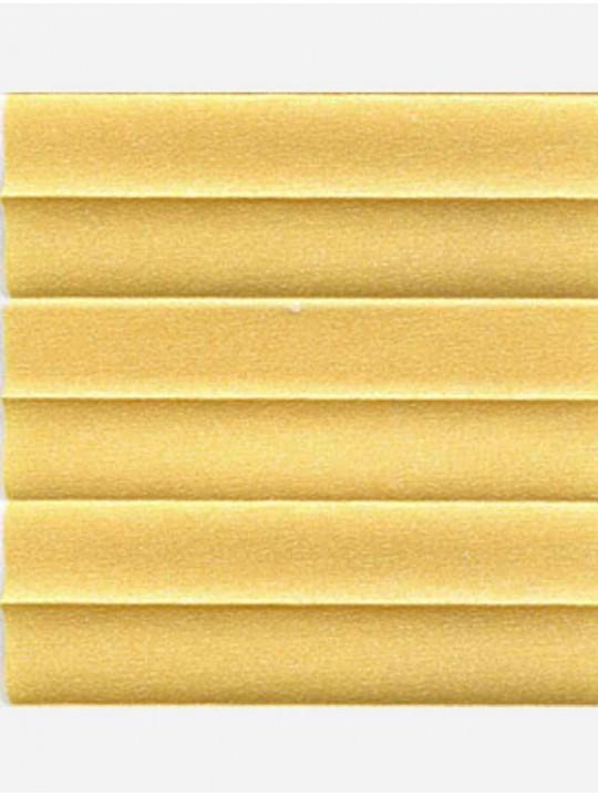 Штора плиссе тканевая Опал желтый