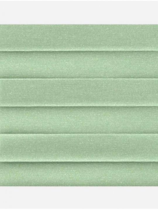 Штора плиссе тканевая Опал зеленый