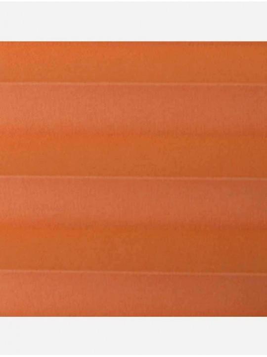 Штора плиссе тканевая Опера оранжевый
