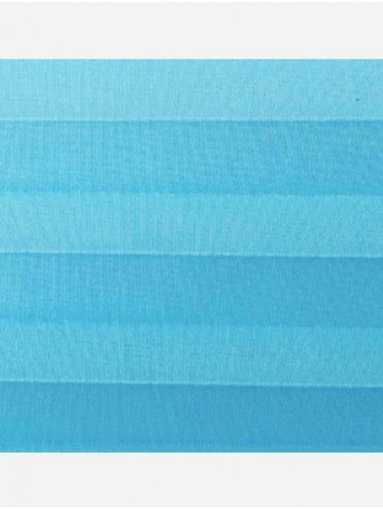 Штора плиссе тканевая Опера голубой
