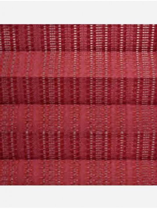 Штора плиссе тканевая Пальма красный