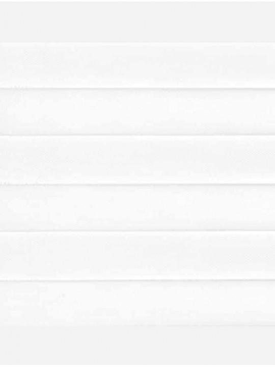 Штора плиссе тканевая Прима белый