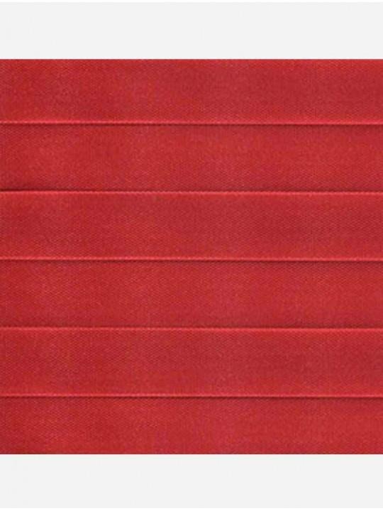 Штора плиссе тканевая Прима красный