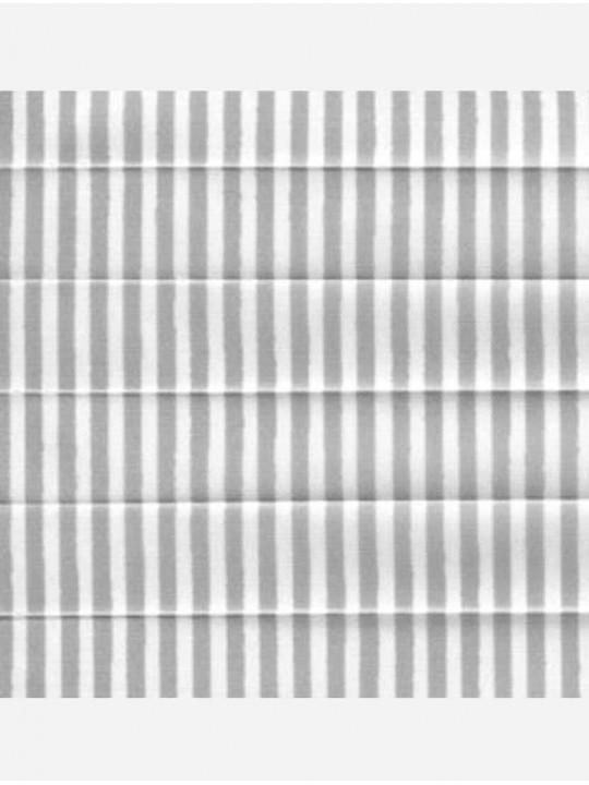 Штора плиссе тканевая Прима лайн серый