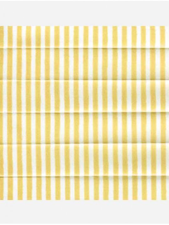 Штора плиссе тканевая Прима лайн желтый