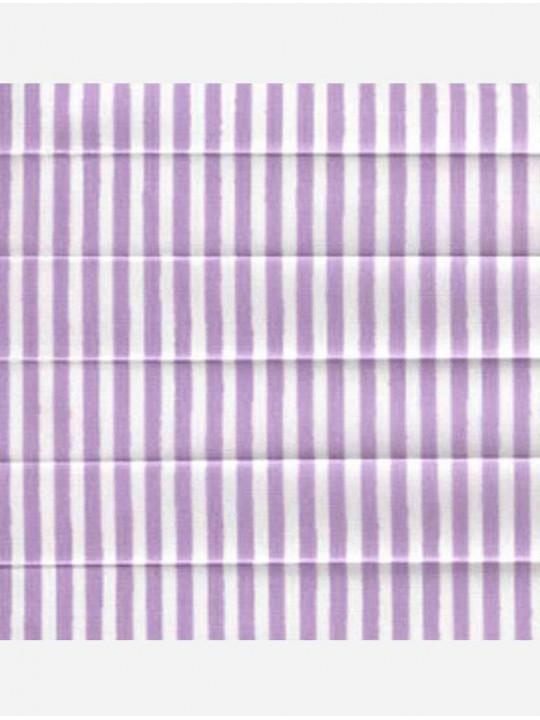Штора плиссе тканевая Прима лайн лиловый