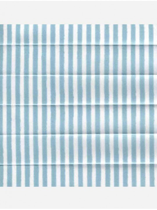 Штора плиссе тканевая Прима лайн голубой