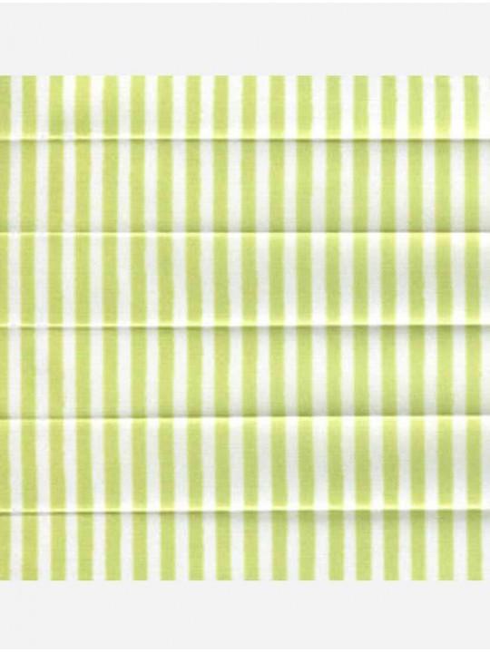 Штора плиссе тканевая Прима лайн зеленый