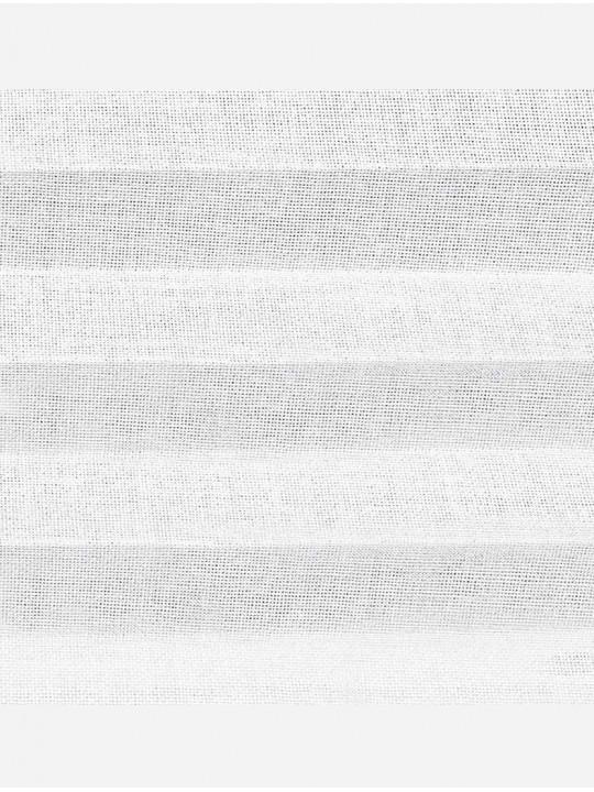 Штора плиссе тканевая Сантана 32 мм белый
