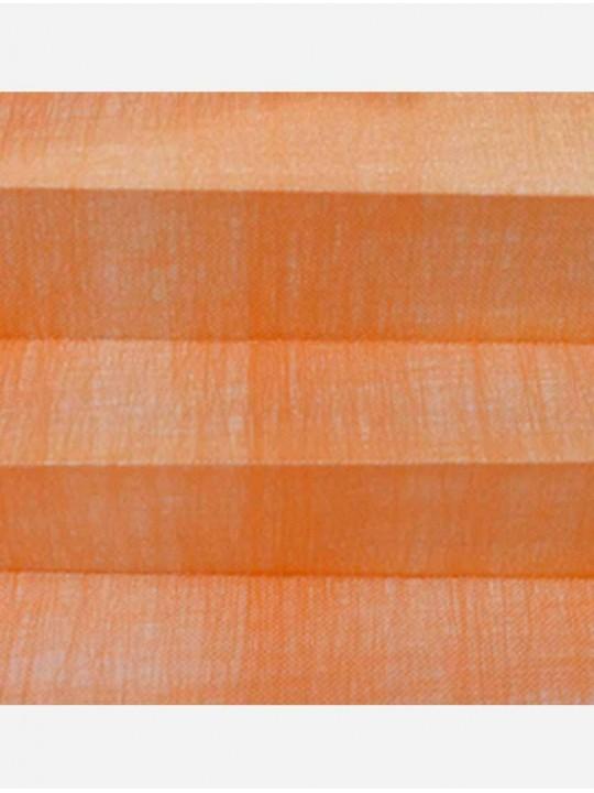 Штора плиссе тканевая Сето мандарин