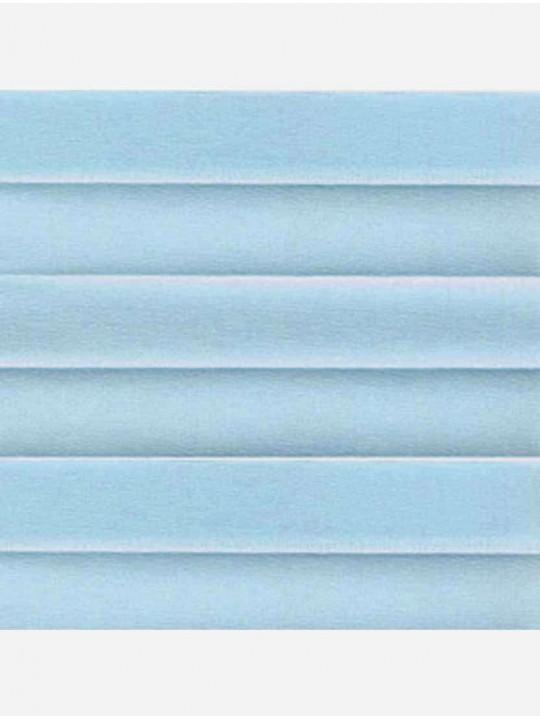 Штора плиссе тканевая Шарм голубой