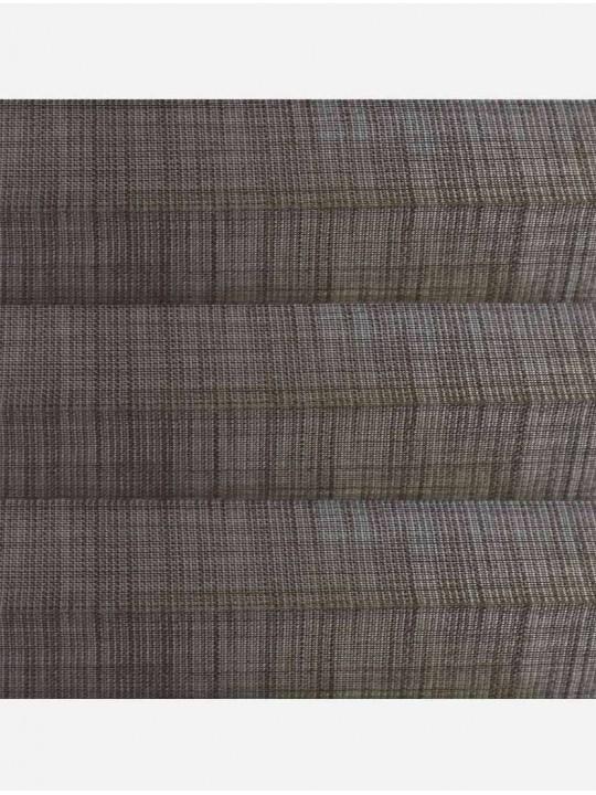 Штора плиссе тканевая Тенденс коричневый