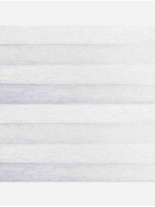 Штора плиссе тканевая Тигрис перла белый