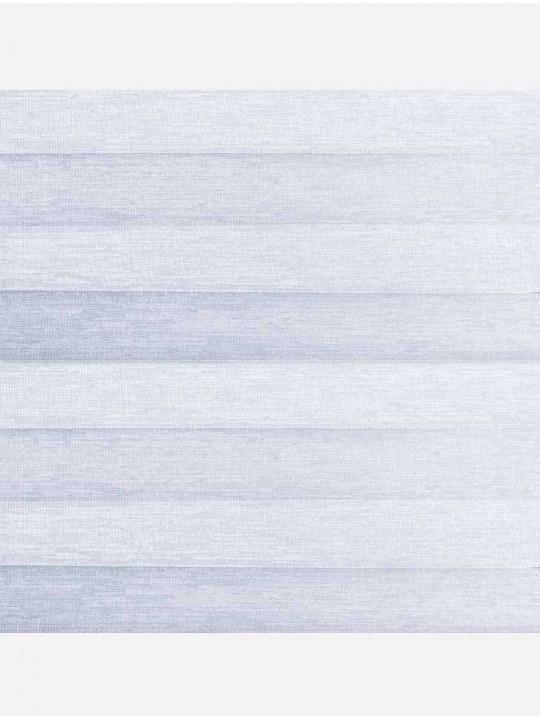 Штора плиссе тканевая Тигрис перла светло-серый