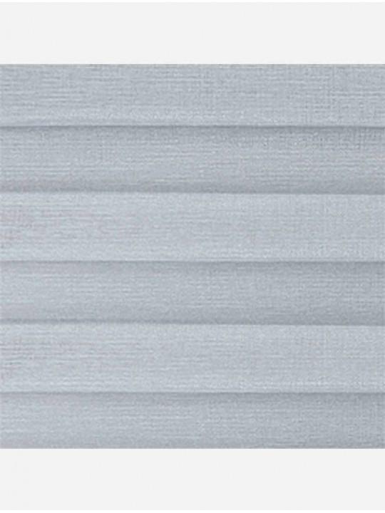 Штора плиссе тканевая Тревира Силк светло-серый
