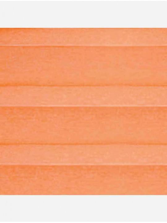Штора плиссе тканевая Тревира Силк оранжевый