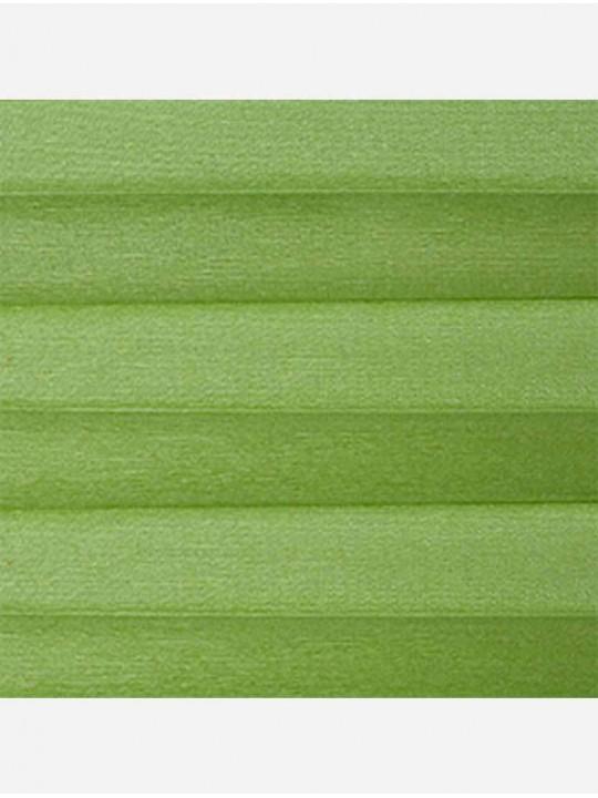 Штора плиссе тканевая Тревира Силк зеленый