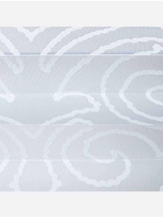 Штора плиссе тканевая Виндзор белый
