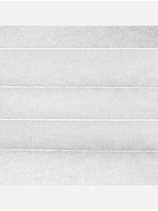Штора плиссе тканевая Жемчуг белый