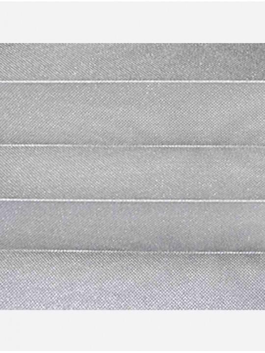 Штора плиссе тканевая Жемчуг серый