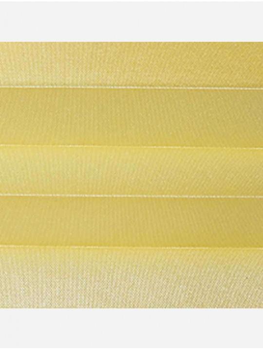Штора плиссе тканевая Жемчуг желтый