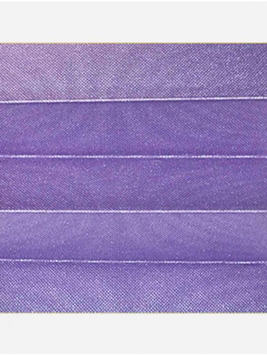 Штора плиссе тканевая Жемчуг лиловый