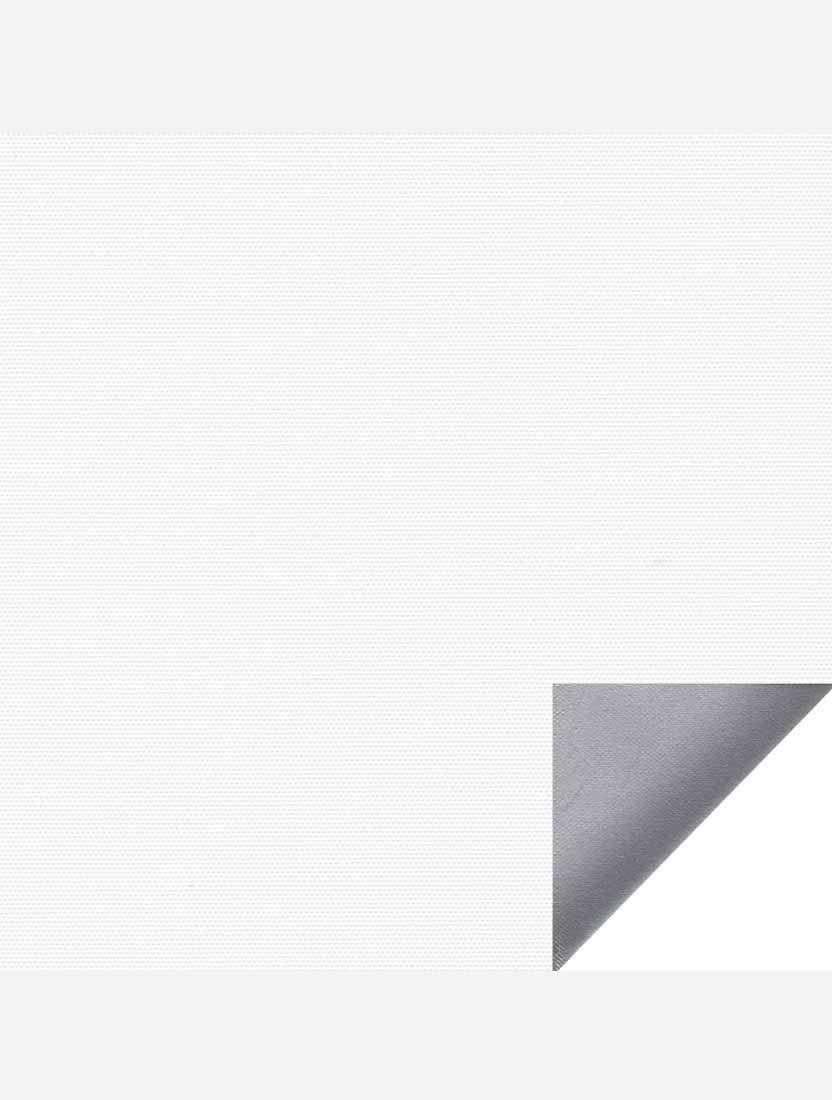 Минирулонные тканевые жалюзи Альфа блэкаут белый с алюминиевым слоем