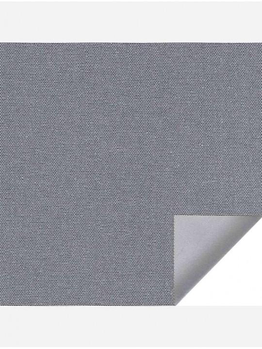 Рулонно-кассетные жалюзи Uni-2 с пружиной Альфа блэкаут серый с алюминиевым слоем