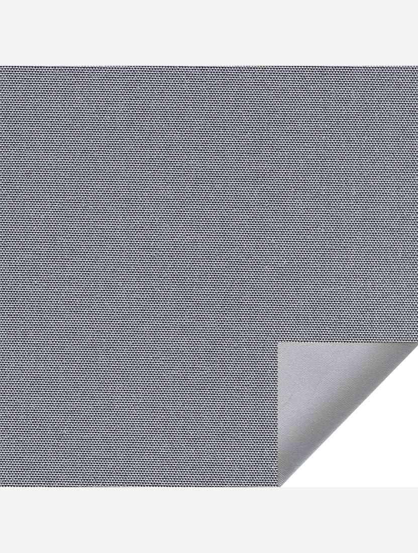 Минирулонные тканевые жалюзи Альфа блэкаут серый с алюминиевым слоем