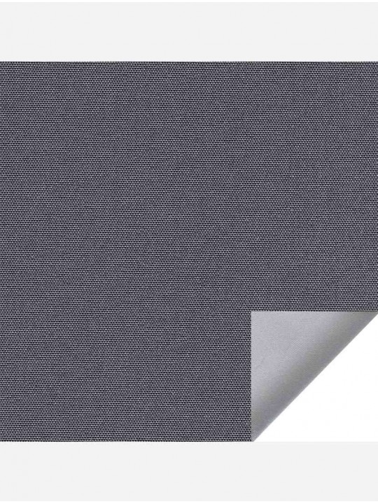 Рулонные тканевые жалюзи Уни-1 Альфа блэкаут темно-серый с алюминиевым слоем