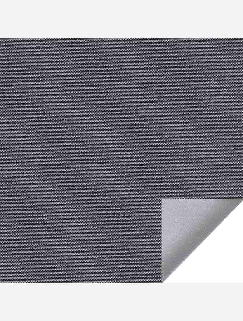 Минирулонные тканевые жалюзи Альфа блэкаут темно-серый с алюминиевым слоем