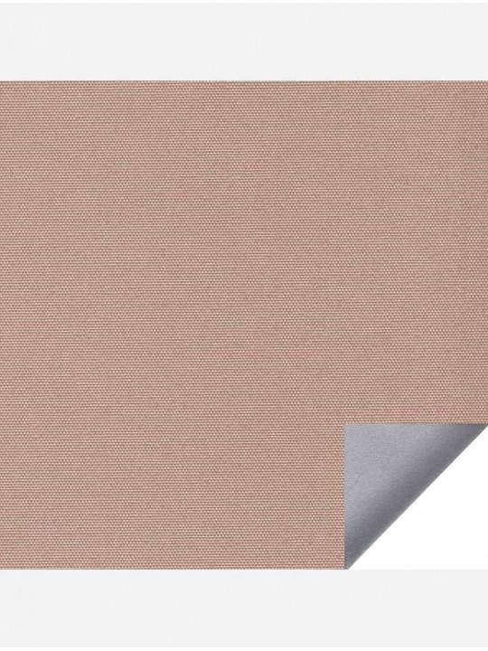 Рулонные тканевые жалюзи Уни-1 Альфа блэкаут свело-коричневый с алюминиевым слоем