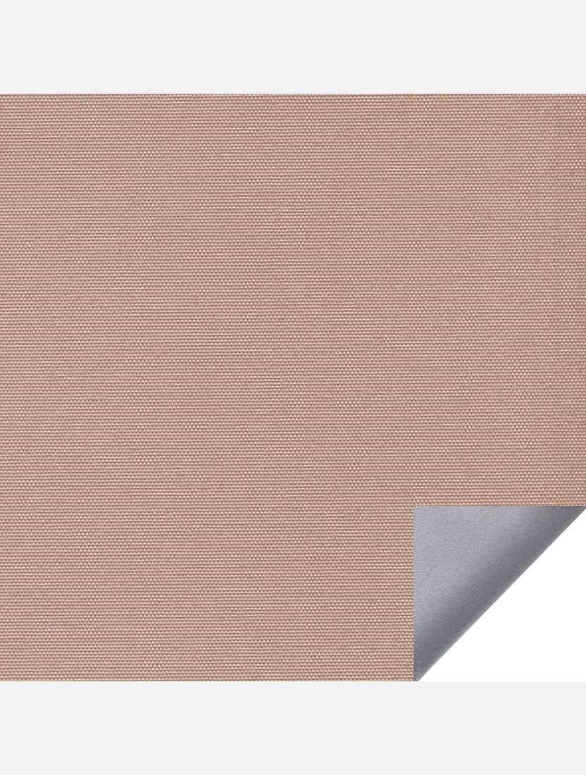 Минирулонные тканевые жалюзи Альфа блэкаут свело-коричневый с алюминиевым слоем