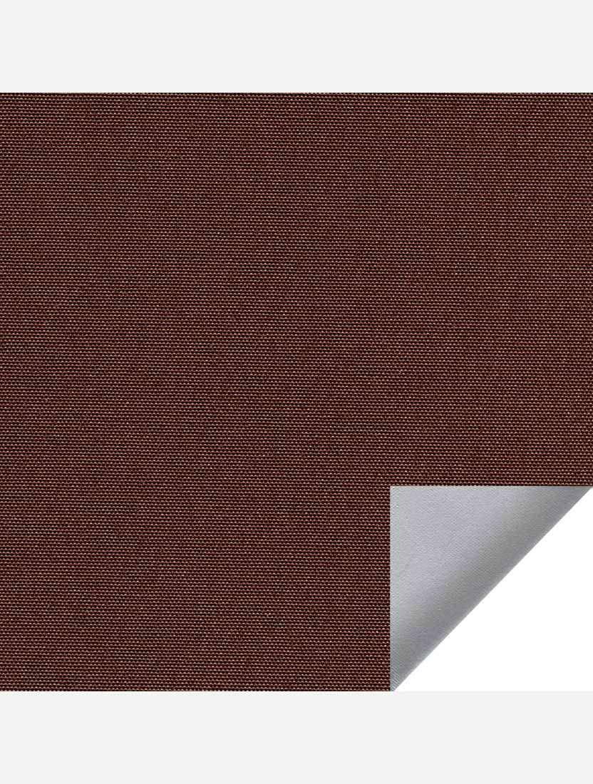 Минирулонные тканевые жалюзи Альфа блэкаут темно-коричневый с алюминиевым слоем
