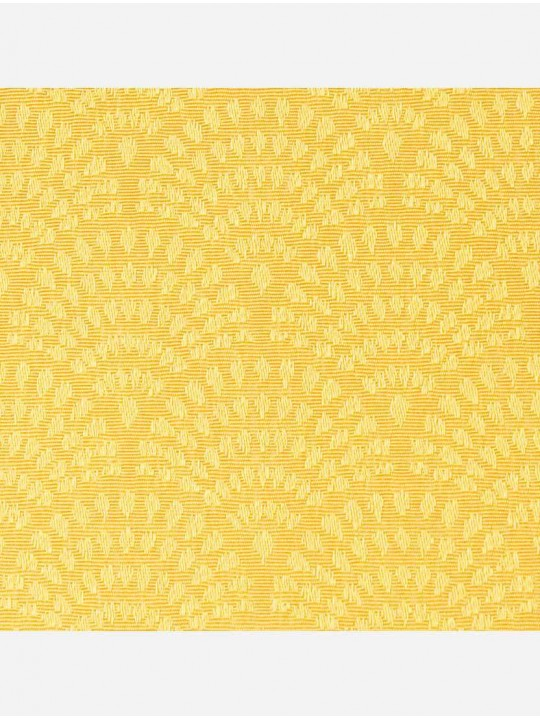 Минирулонные тканевые жалюзи Ажур желтый