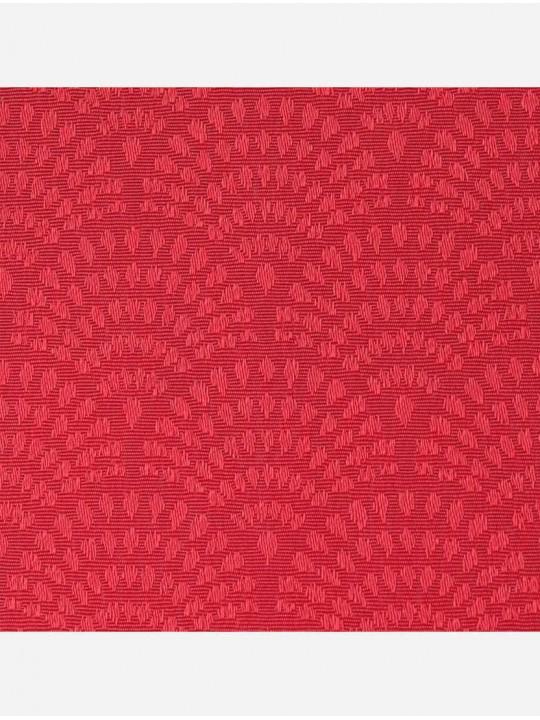 Минирулонные тканевые жалюзи Ажур красный