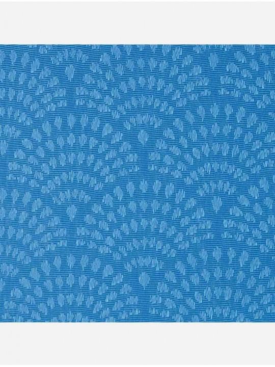 Минирулонные тканевые жалюзи Ажур синий