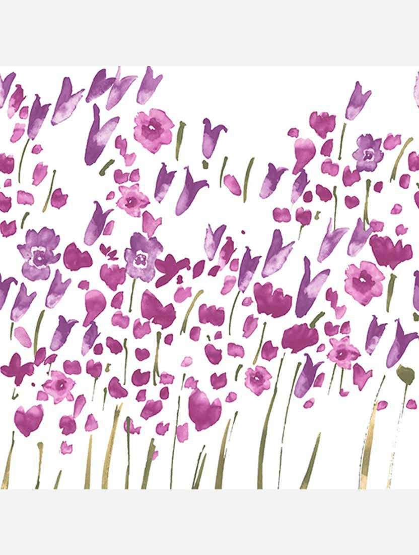 Минирулонные тканевые жалюзи Весна лиловый