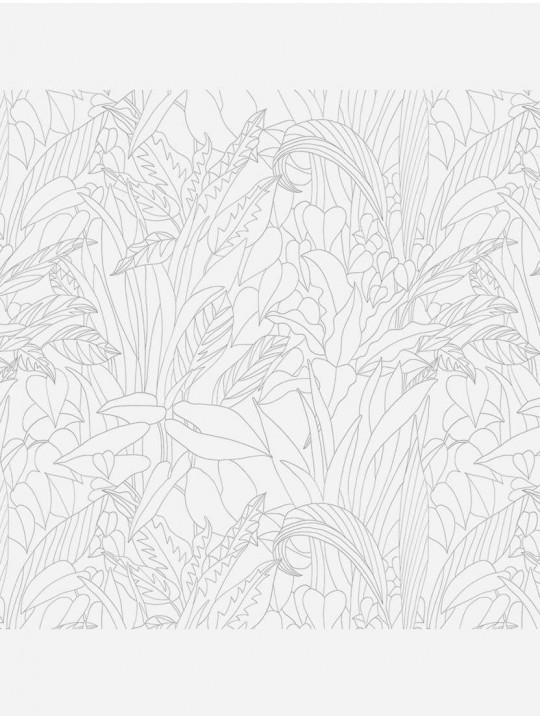 Рулонные тканевые жалюзи Уни-2 Тропик белый