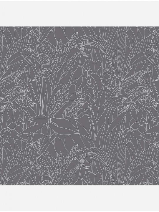 Минирулонные тканевые жалюзи Тропик серый