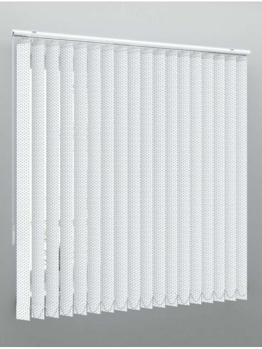 Вертикальные алюминиевые жалюзи Перф. белый глянец
