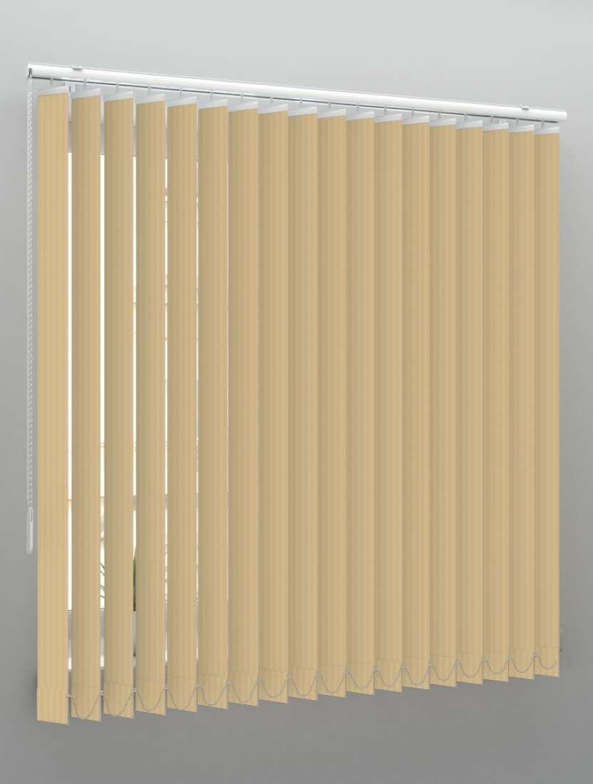 Вертикальные пластиковые жалюзи Рибкорд бежевый